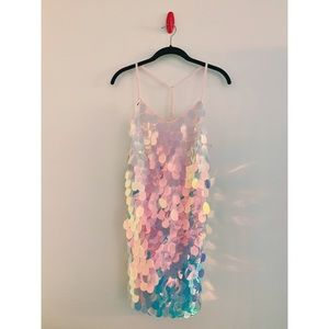 Missguided Petite Pink Sequin Cami Dress